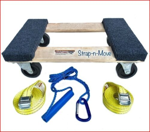 STRAP-n-MOVE 1st. Pro 1000Lb, Furniture Movers Dolly, Safety-Straps, Lift Handle