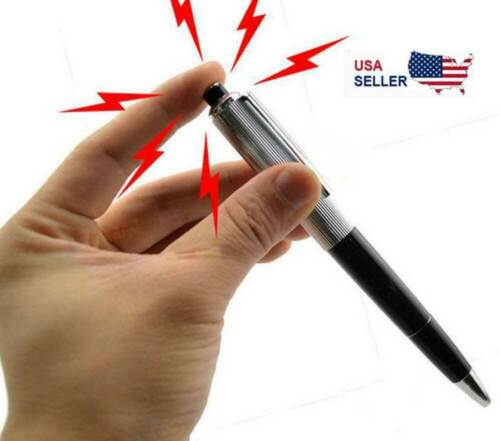 Shocking Electric Pen Prank Shock Trick Novelty Metal Joke Gag Toy Gift Funny US