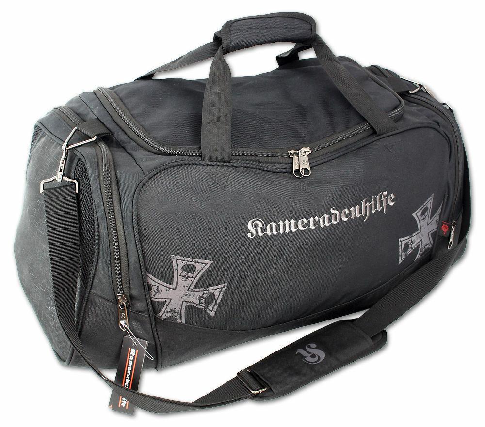 3a6610f2cd7d8 Männer Sporttasche groß robust Fitness Tasche Reisetasche mit Schuhfach  Schwarz