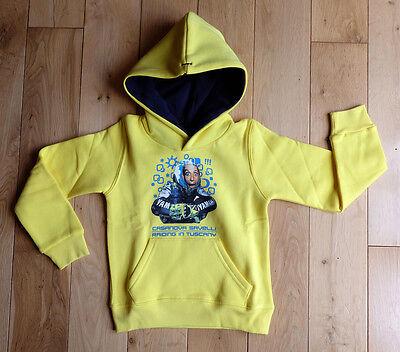 Kids Genuine Childs Rossi Casanova Fleece Hooded Top Yellow