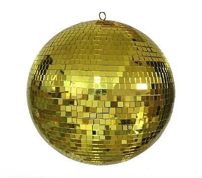 20 INCH BEAUTIFUL GOLDEN MIRROR BALL party supplies disco balls lights hang GOLD - Disco Ball Party Supplies