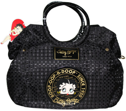BETTY BOOP Licensed Handbag Woven Design BLACK (NEW with Tag)