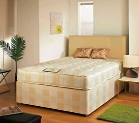 ❋❋ BUY IT NOW, PAY ON DELIVERY ❋❋ BRAND NEW ❋❋ DOUBLE DIVAN BASE WITH SEMI ORTHOPEDIC MATTRESS
