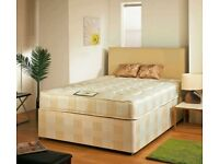 EXPRESS FAST DELIVERY -- DOUBLE DIVAN BED BASE INCLUDING MATTRESS (Headboard Optional)