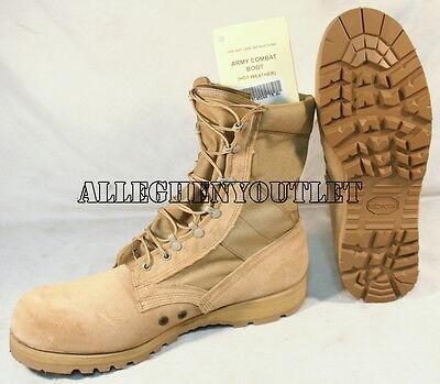 US Military Belleville HOT WEATHER COMBAT BOOTS Vibram Desert USA Made NIB 15 W