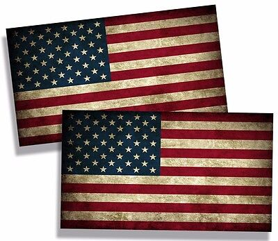 Rustic USA American Flag Sticker Decal Car Truck Laptop Motorcycle Cup Bumper HD