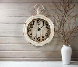 Beautiful 21 Wall Clock Pocket Watch White Vintage Antique Appearance