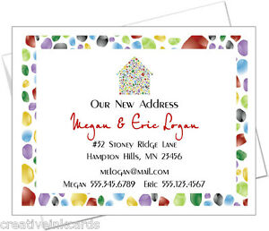 Personalized-Change-of-Address-New-Home-Moving-Cards-COLORFUL-STONE-HOUSE
