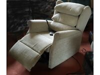 Electric rise and recline armchairs x2