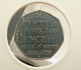2006 50p Coin Commemorating the 250th Anniversary of the Samuel Johnstone's English Dictionary