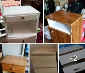 10.00 EACH. BEDSIDE TABLES NOT OFFER