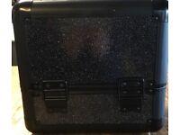 Black glittery beauty box