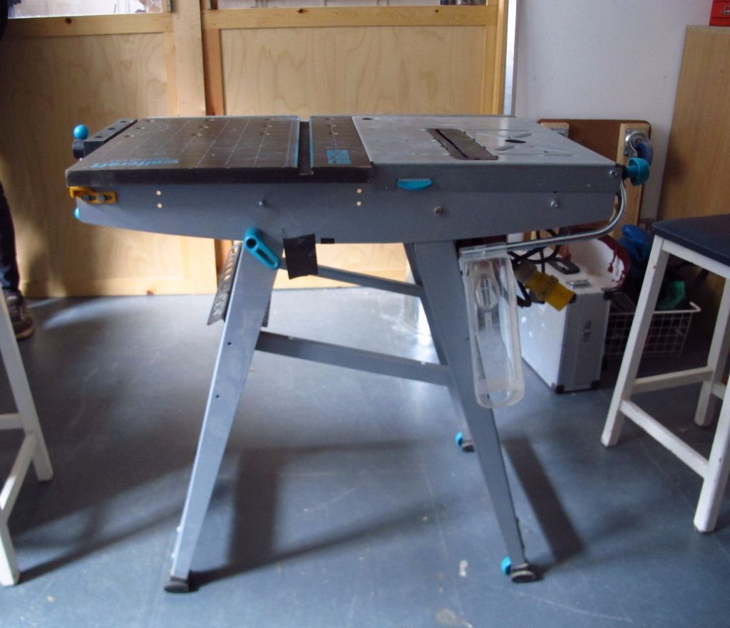 Wolfcraft master cut 1000 folding workbench and power tool for Table wolfcraft
