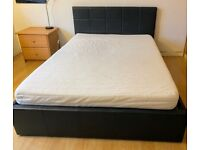 Ottoman double bed with storage (no mattress) - MUST sell today, so make an offer!