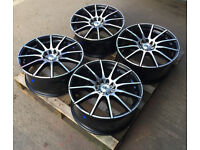 """18"""" DK 102 ALLOY WHEELS FIT: FORD FOCUS RS ST MONDEO C-MAX S-MAX GALAXY"""