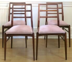 Vintage MidCentury Richard Hornby For Heals Fyne Ladye Afromosia Chairs. Delivery. DanishStyle