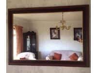 Fireplace & mirror