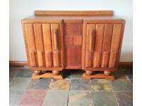 Impressive 1930's Art Deco Oak Sideboard (Dresser / Buffet Cabinet / Cupboard)