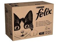 BNIB Felix Mixed Selection Wet Cat Food Pouches 80 pk, 50% in Gravy, 50% in Jelly