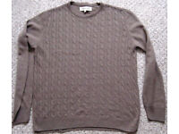 Mens Jumpers XS – XL, £1.50 - £3.50 and hooded top XXL.