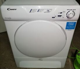 HOOVER CANDY 9KG CONDENSER TUMBLE DRYER IN WORKING ORDER