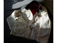 Barbour Jacket L10/11 White with Union Jack Lining
