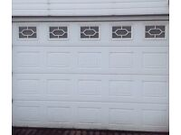 Hormann sectional garage door (10ftx8) electric operated.