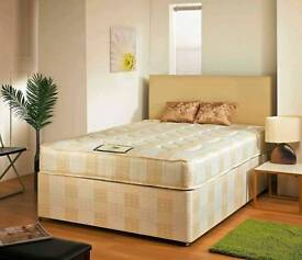 Double Divan Base and Deep Quilted Mattress Set Brand NEW