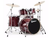 Full Premier XPK 4 Piece Drumkit + Cymbals + Hardware! - Red