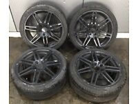 "17"" BLACK AUDI A3 S LINE ALLOYS WITH TYRES VW GOLF MK5 MK6 AUDI A3 S3 RS3 POLO"