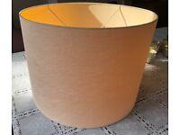 Natuzzi designer large drum lampshade Ivory cream