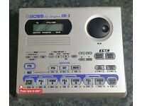 Boss DR-3 Electronic Drum Machine with PSA-240 Power Supply Unit (Not usually supplied) DR3