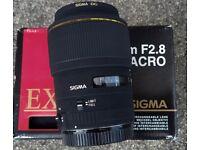Sigma 105mm EX DG macro lens