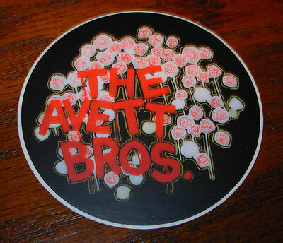 "THE AVETT BROTHERS Bros Decal 3"" Sticker FLOWERS from cd lp album artwork"