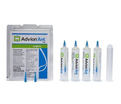 Syngenta Advion Ant Gel Bait - 4 Tubes with Plunger and Tips FREE SHIPPING