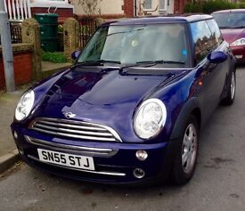 Stunning mini Cooper in rare purple