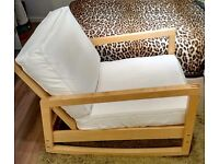 SOLID PINE IKEA ROCKING ARMCHAIR/LOUNGER