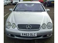 X 2000, Mercedes CL 500 , 5.0 V8 Petrol Engine, 131000, VERY HUGE SPEC FULL SERVICE HISTORY