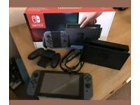 NINTENDO SWITCH BLACK BOXED LIKE NEW WITH MARIO