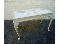 COFFEE TABLE - GREY WITH DECOUPAGE TOP