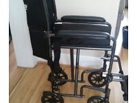 For sale light weight travel wheelchair.