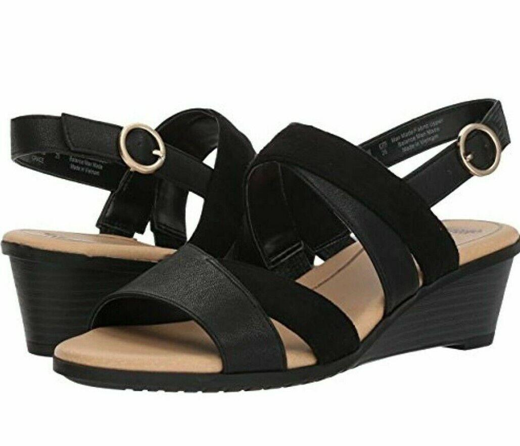 Dr. Scholl's Grace Wedge Sandals Women's Open Toe Black Casu