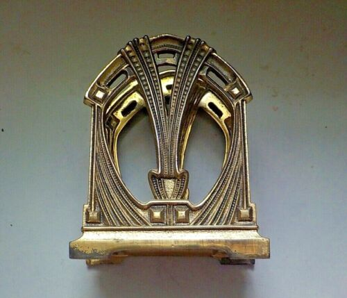 1930 Art Deco Brass Letter Holder