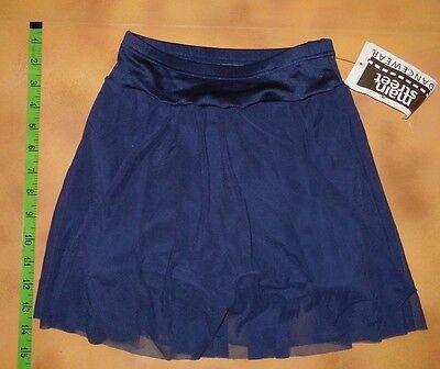 NWT Dance Jazz Navy Matte Spandex Mesh Skirt Boy Cut Booty Shorts Ladies Small - Ladies Navy Mesh Shorts