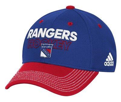 New York Rangers Adidas NHL Authentic Locker Room Structured Flex Hat