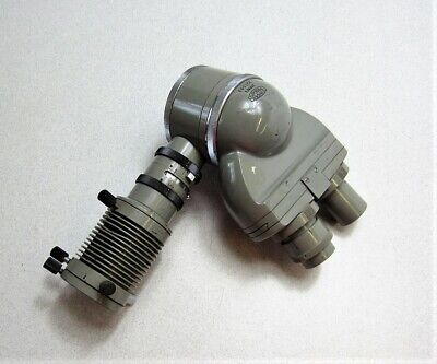 Olympus Binocular Microscope Head With Illuminator Adapter Tube Attachment