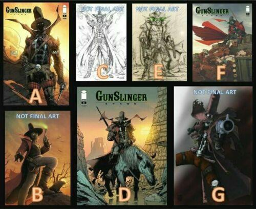Image GUNSLINGER SPAWN #1 Covers A/B/C/D/E/F/G 1st Printing (7 Comic Book Set)