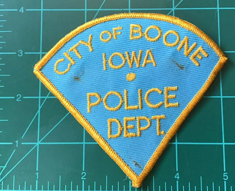 Obsolete Police Patch Boone Iowa IA Old