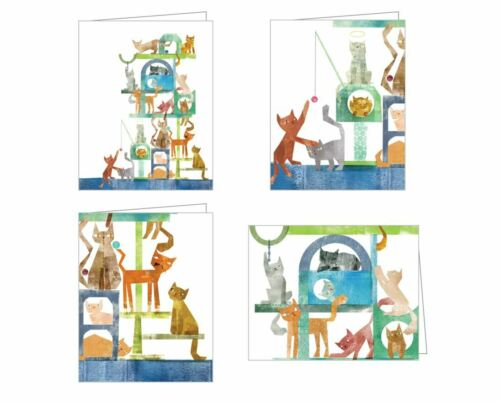 4 CAT KITTEN NOTE CARDS GREETING CARDS & ENVELOPES Notecards Maria Carluccio NEW