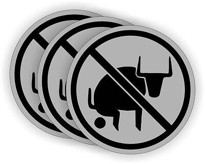 3 - Funny No Bullshit Hard Hat Stickers Safety Welding Helmet Decals Bull Crap